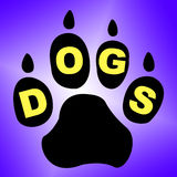 Dogs Paw Means Pets Pup And Pedigree Stock Images