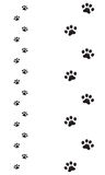 Dogs paw silhouette Royalty Free Stock Image