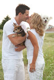 Dogs and people Royalty Free Stock Photos