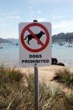 Dogs prohibited signage Royalty Free Stock Images