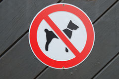 Dogs prohibited! Royalty Free Stock Photos
