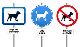 Dogs Prohibitory and Mandatory Sign Stock Photography
