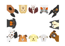 Dogs rectangle frame Stock Image