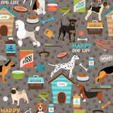 Dogs seamless background pattern Stock Images
