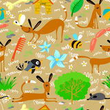 Dogs seamless. Cute seamless pattern with dogs Royalty Free Stock Image