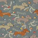 Dogs seamless pattern Royalty Free Stock Photo