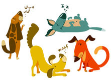 Dogs set. Cute dogs set,  illustration Stock Image