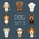 Dogs Set 2. Vector breed of dogs Royalty Free Stock Photo
