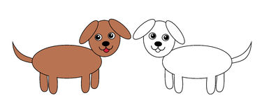 Dogs, set, vector, illustration Royalty Free Stock Photography