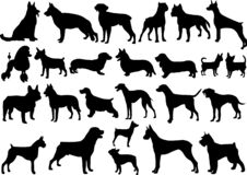 Dogs silhouettes collection