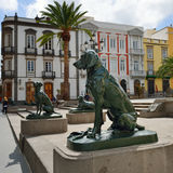 Dogs symbol of Canary Islands Stock Image