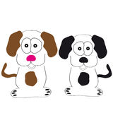 Dogs on white background Royalty Free Stock Photo