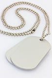 Dogtags. Dog tags on white background Royalty Free Stock Images