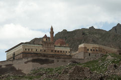 Dogu Bayazit. Beyazit fortress on the border between Turkey and Iran Stock Images