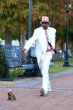 Dogwalking Stockfoto