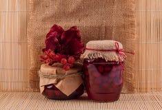Dogwood jam jars Stock Images