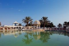 Doha, Κατάρ: Τα ψυχαγωγικά πάρκα είναι κοινά στο κεφάλαιο Στοκ εικόνες με δικαίωμα ελεύθερης χρήσης