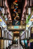 Doha, πανοραμική άποψη το Νοέμβριο του 2018 του Κατάρ μιας χαρακτηριστικής λεωφόρου στοκ φωτογραφίες με δικαίωμα ελεύθερης χρήσης