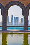Doha. View from Islamic art museum in , Qatar Royalty Free Stock Photography