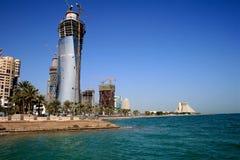 Doha in aanbouw Stock Afbeelding
