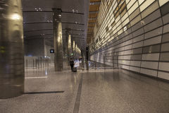Doha airport. Doha is one of the new airline hubs in Asia and also home airport of Qatar airways Stock Photo