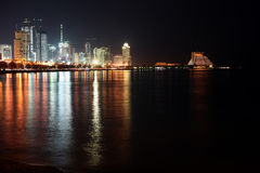 Doha bay new district Royalty Free Stock Photos