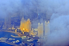 Doha behind the clouds, Qatar Stock Photography