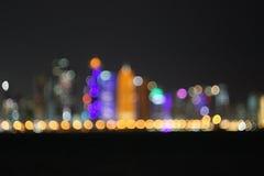 Doha bokeh Royaltyfri Fotografi