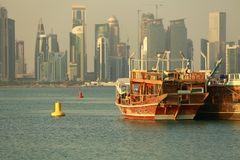 Doha, Catar Doha Al Corniche fotografia de stock