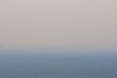 Doha city horizon Stock Photo