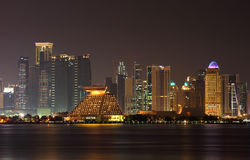 Doha city skyline at night, Qatar Royalty Free Stock Image