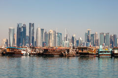 Doha city skyline, Qatar Royalty Free Stock Photo