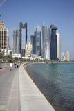 Doha Corniche (Katar) Zdjęcia Stock