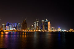 Doha corniche at night Royalty Free Stock Photography