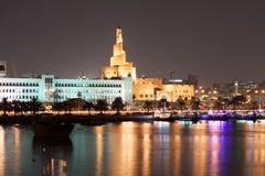 Doha Corniche at night, Qatar Royalty Free Stock Image