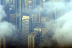 Doha derrière les nuages, Qatar Images libres de droits