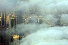 Doha derrière les nuages, Qatar Photo libre de droits