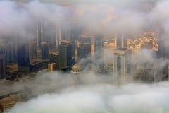 Doha derrière les nuages, Qatar Photographie stock
