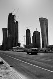 Doha Development. A shot of Doha's blossoming business district Royalty Free Stock Photos