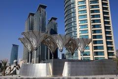 Doha downtown district Al Dafna Royalty Free Stock Photo