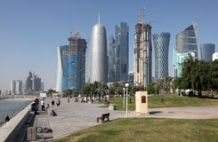 Doha downtown district, Qatar Royalty Free Stock Images
