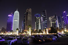 Doha downtown at night. Qatar Stock Images