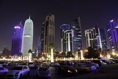 Doha downtown at night. Qatar Stock Images