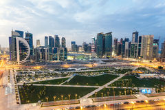 Doha downtown at night Royalty Free Stock Photography