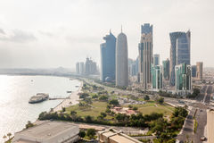 Doha downtown, Qatar Royalty Free Stock Images