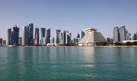Doha downtown skyline Stock Images
