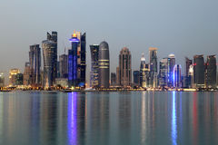 Doha downtown skyline Royalty Free Stock Photos