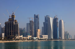 Doha downttown district Royalty Free Stock Image