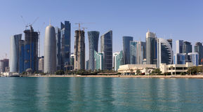 Doha downttown skyline Stock Photo