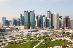 Doha Dyplomatyczny teren, Katar Zdjęcie Royalty Free